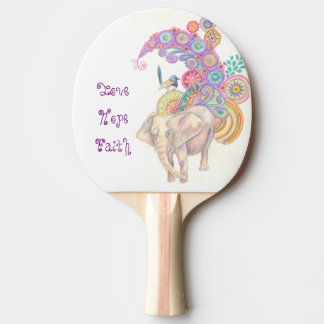 elephant and bird ping pong paddle