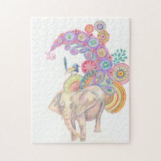 elephant and bird puzzle