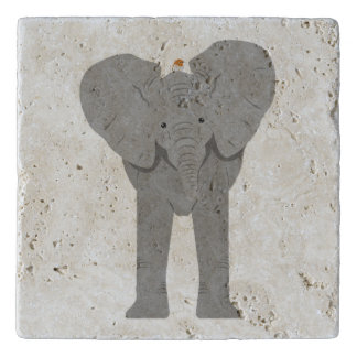 elephant and bird trivet