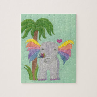 Elephant and Butterfly BFF Jigsaw Puzzle