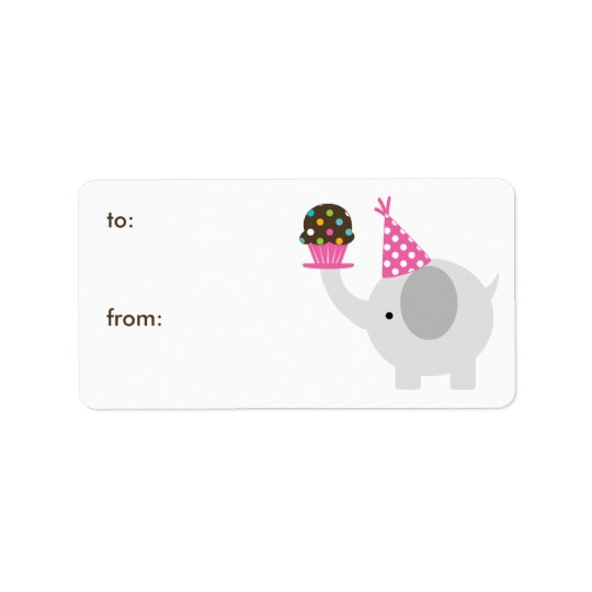 Elephant and Cupcake Gift Tags