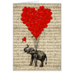 Elephant and heart shaped balloons