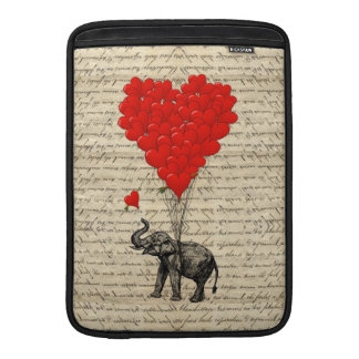 Elephant and heart shaped balloons sleeve for MacBook air