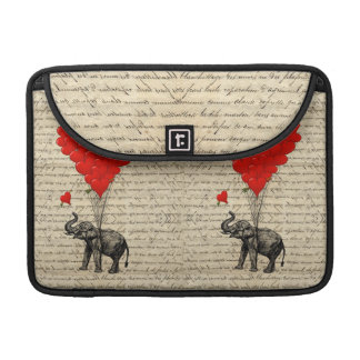 Elephant and heart shaped balloons sleeve for MacBooks