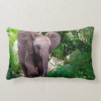 Elephant and Jungle Lumbar Cushion