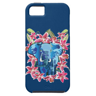 Elephant and lily iPhone 5 cover