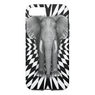 Elephant And Optical Pattern Design, Zany Pattern iPhone 7 Case