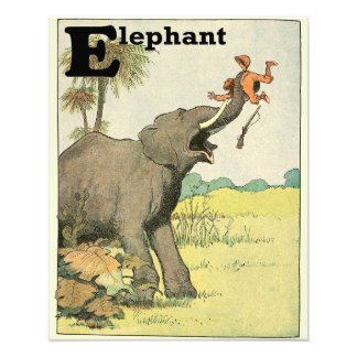 Elephant and Poacher in the Jungle Alphabet Photo