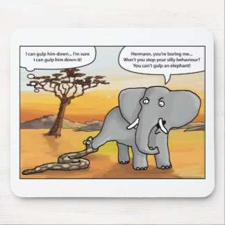 Elephant and snake.png mouse pad