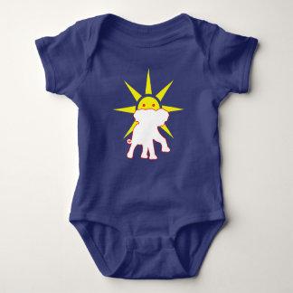 Elephant and Sun Baby Bodysuit