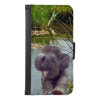 Elephant and Water Samsung Galaxy S6 Wallet Case
