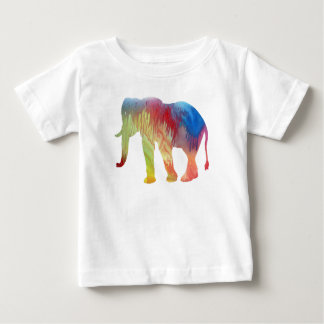 Elephant Art Baby T-Shirt