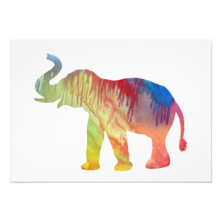 Elephant Art Photographic Print