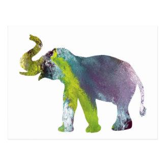Elephant Art Postcard