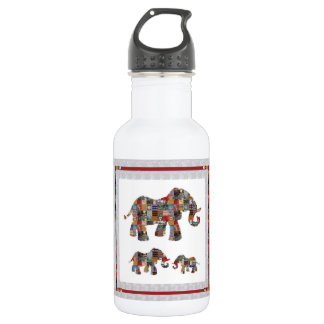 ELEPHANT Artistic Collection Patches KIDS NVN478 b 532 Ml Water Bottle