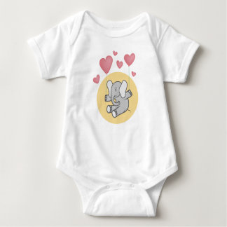 Elephant baby baby bodysuit