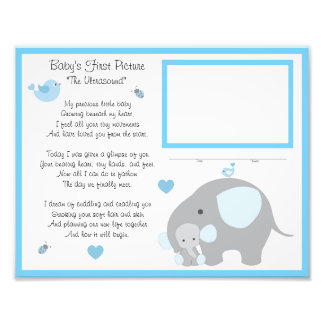 Elephant Baby Boy Ultrasound Sonogram Wall Art Photo