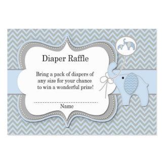 Elephant Baby Raffle Chevron Print Business Card Template