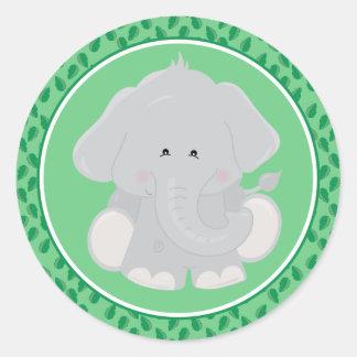 Elephant | Baby Safari Animals Round Sticker