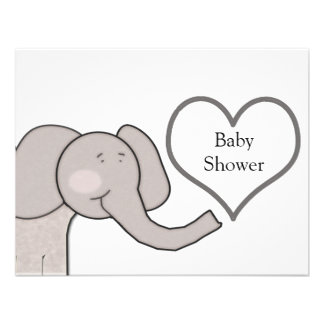 Elephant Baby Shower Custom Invitations