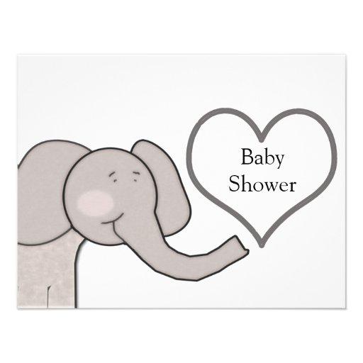 Elephant Baby Shower Custom Invitations