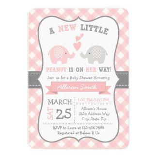 Elephant Baby shower Invitation, Elephant Shower Card