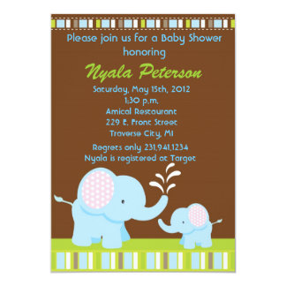 Elephant Baby Shower Invitations for Boy