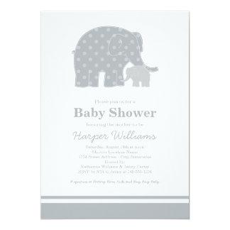 Elephant Baby Shower Invitations | Silver & Grey