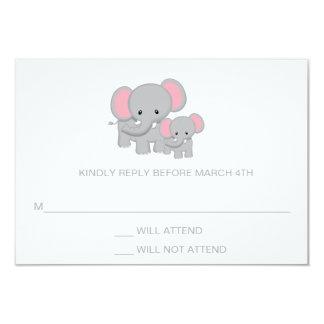 Elephant Baby Shower RSVP Response Card