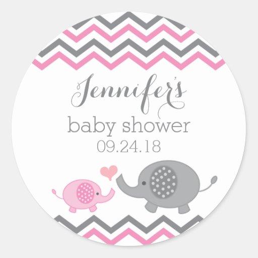 Redblue Circle: Elephant Baby Shower Stickers