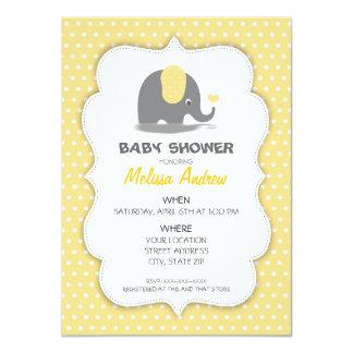 Elephant baby to shower invitation