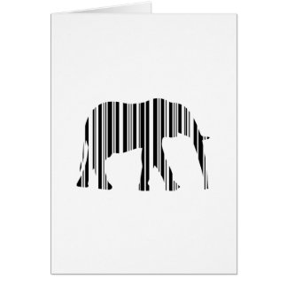 ELEPHANT BARCODE Animal Bar Code Pattern Design Card