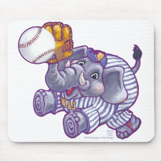 Elephant Baseball Star Mouse Pad