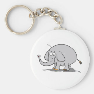 Elephant Basic Round Button Key Ring