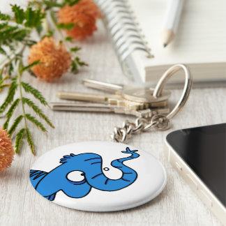 Elephant Basic Round Button Key Ring
