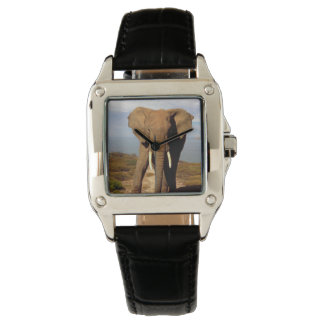 Elephant_Beach,_Ladies_Square_Leather_Watch. Wrist Watches