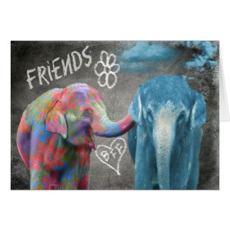 Elephant BFF Comforting Card