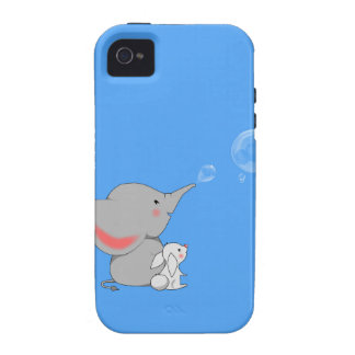 Elephant blowing bobbles vibe iPhone 4 cases