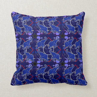 Elephant Blue Bandana Pillow