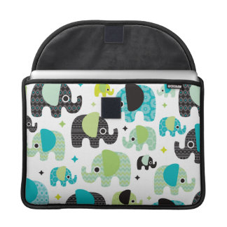 Elephant blue green aztec macbook sleeve