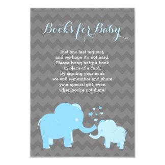 Elephant Books For Baby Insert Blue Grey Card