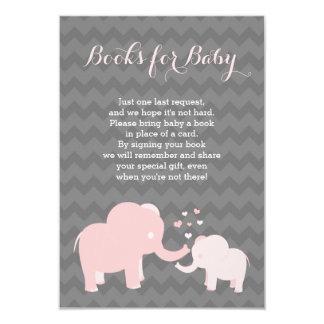 Elephant Books For Baby Insert Pink Grey Card