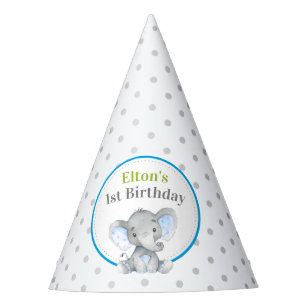 Elephant Boy 1st 2nd First Birthday Little Peanut Party Hat