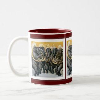 Elephant Brass Band Two-Tone Coffee Mug
