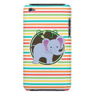 Elephant Bright Rainbow Stripes Case-Mate iPod Touch Case