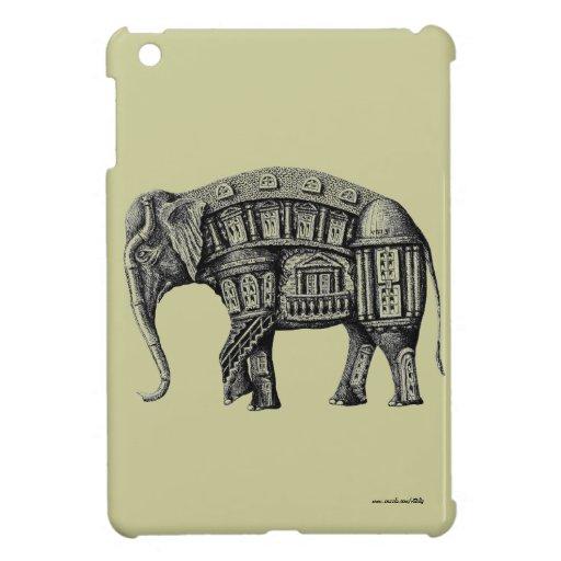 Elephant Building pen ink drawing iPad Mini Case