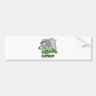 Elephant by Lorenzo © 2018 Lorenzo Traverso Bumper Sticker