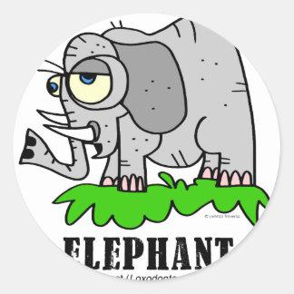 Elephant by Lorenzo © 2018 Lorenzo Traverso Classic Round Sticker