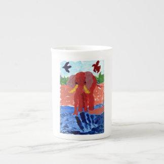 Elephant by the river mug