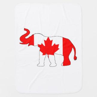 Elephant Canada Baby Blanket
